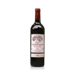 Rode-Wijn-Château-Commanderie-Queret-Supérieur-Bordeaux-Frankrijk