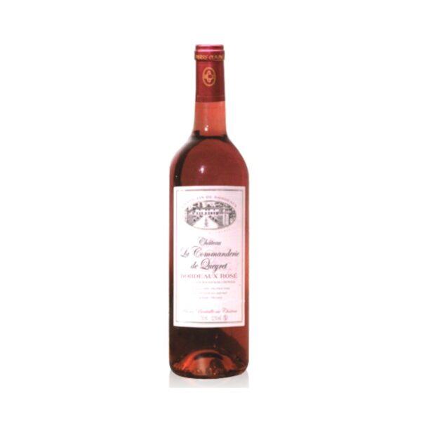Château la commanderie de queret rosé